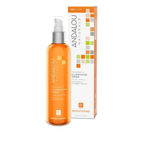 Тоник для восстановления цвета кожи «Клементин + витамины», Andalou Naturals