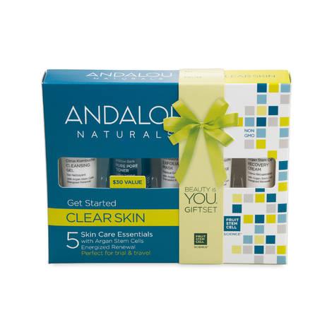Набор из 5 минипродуктов «комплексное очищение лица», Andalou Naturals