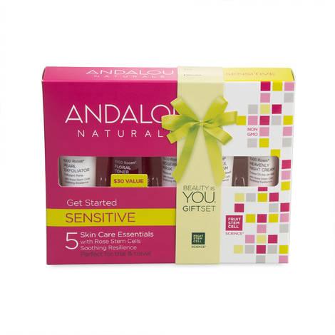 Набор из 5 минипродуктов «комплексный уход за чувствительной кожей», Andalou Naturals