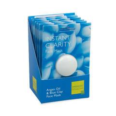 Маска для лица очищающая «Арган и голубая глина» 6x8 гр., Andalou Naturals
