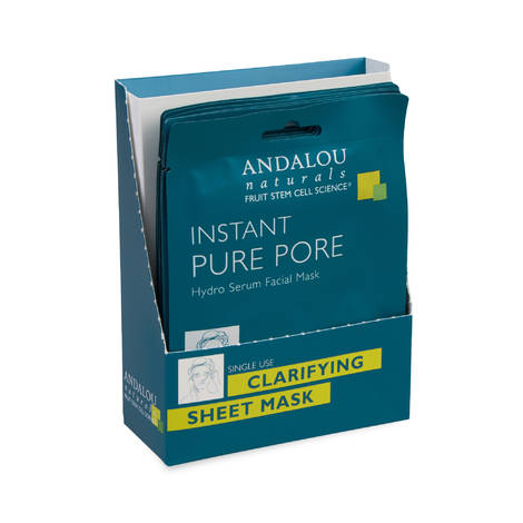 Маска-сыворотка для лица очищающая «Чистые поры», Andalou Naturals