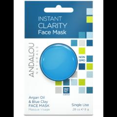 Маска для лица очищающая «Арган и голубая глина», Andalou Naturals