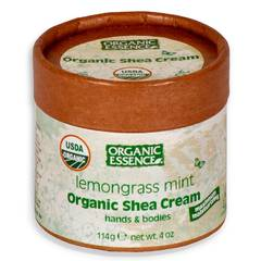 Органический крем Ши, Лемонграсс и мята, Organic Essence