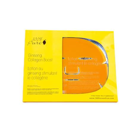 Набор коллагеновых масок Женьшень (5шт), 100% Pure