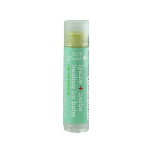 Бальзам для губ c лизином и лечебными травами, 100% Pure